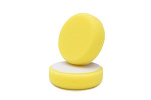 APS Pro Poliermaschinenpad - Polierschwamm hart Ø98mm gelb