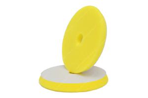 APS Pro Slim Poliermaschinenpad  - 15mm Polierschwamm mittelhart gelb Ø130-140mm