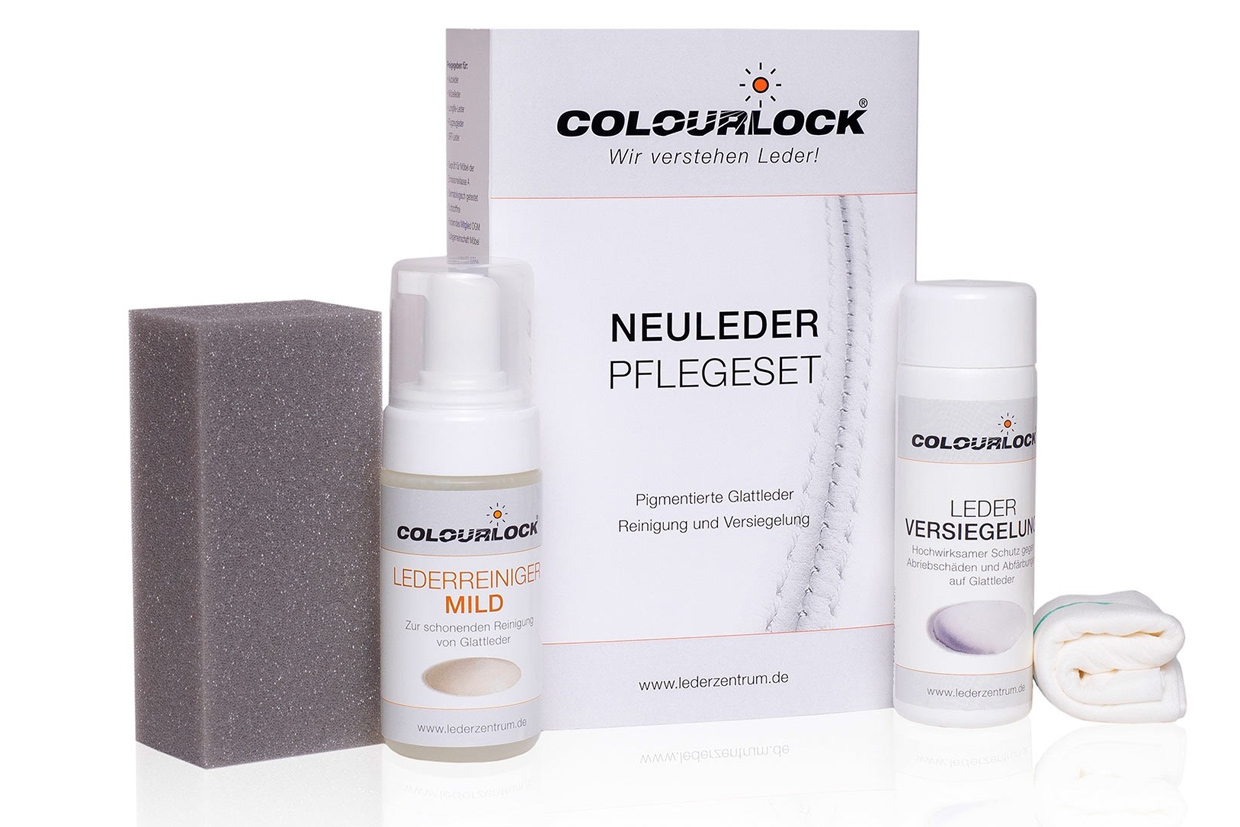 colourlock glattleder pflegeset 125ml milde reiniger. Black Bedroom Furniture Sets. Home Design Ideas