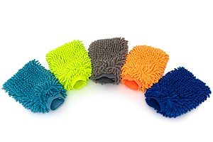 APS Chenille Wash Mitt - Zottel Waschhandschuh versch.Farben