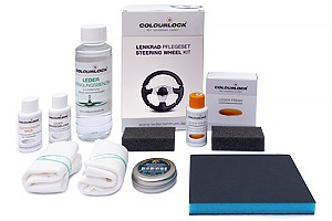 Colourlock Lenkrad Pflegeset - LederLenkrad Reparatur Set schwarz