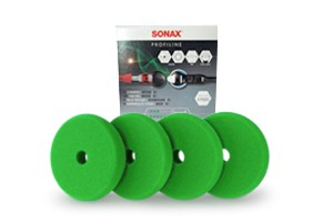 Sonax Profiline Schaumpad Medium 85 - Finishpad Ø85mm grün 4er-Pack