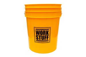 WORK STUFF Black Detailing Bucket Rinse - Wascheimer goldgelb 19L