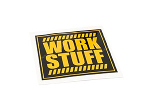 Work Stuff Logo Sticker 7,5cm