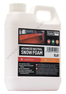 valetpro advanced snow foam ph neutral 1liter online kaufen im autopflege shop. Black Bedroom Furniture Sets. Home Design Ideas